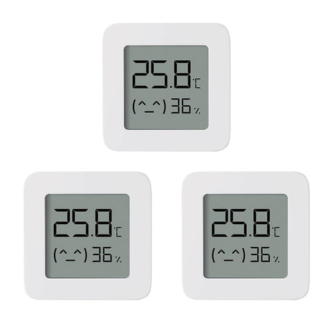 Original Xiaomi Bluetooth Thermometer 2 Mijia App Smart LCD Screen Electric Digital Hygrometer Thermometer Humidity Sensor