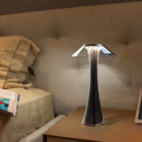 LED table lamp dimmable protection eyes USB charging smart touch switch bedside lamp transparent crystal creative table lamp