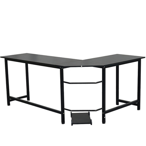 L-Shaped Desktop Computer Desk Study Table Office Table Easy to Assemble Can Be Used in home and office Black