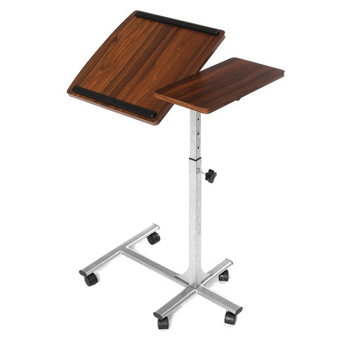 Douxlife Foldable Computer Table 64*40CM Height Adjustable Portable Laptop Desk Rotate Bed Table Can be Lifted Standing Desk