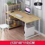"Upgraded Computer Laptop Desk 47"" Modern Style Computer Desk with 4 Tiers Bookshelf for Home Office Studying Living Room"