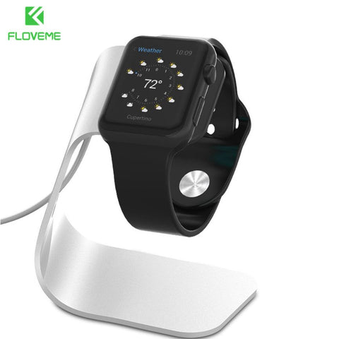 FLOVEME Metal Aluminum Charger Stand Holder for Apple Watch Bracket Charging Cradle Stand for Apple i Watch Charger Dock Station