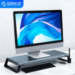 ORICO Aluminum Monitor Stand Riser Wood Computer Universal Desktop Holder Bracket Organizer for PC Laptop MacBook Home Office