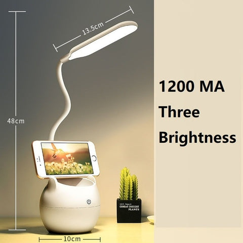 Clip Light Led Rechargeable Eye Protection Learning Children's College Dormitory Table Lamp Bedroom Bedside Lamp