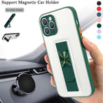 Invisible Holder Desk Stand Phone Case For iPhone 12 11 Pro Max XS X XR 7 8 Plus Candy Color Soft TPU + PC Matte Bumper Cover