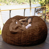 7-Foot Bean Bag Chair  Furry Fur Cover Machine Washable Big Size Sofa and Giant Lounger Furniture Cover only