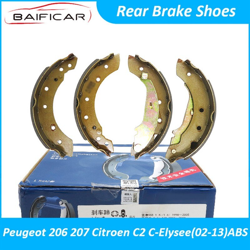 Baificar Brand New High Quality Rear Brake Shoes Shoe Pads For Peugeot 206 207 Citroen C2 C-Elysee 02-13 ABS