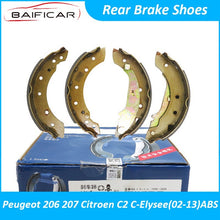 Load image into Gallery viewer, Baificar Brand New High Quality Rear Brake Shoes Shoe Pads For Peugeot 206 207 Citroen C2 C-Elysee 02-13 ABS