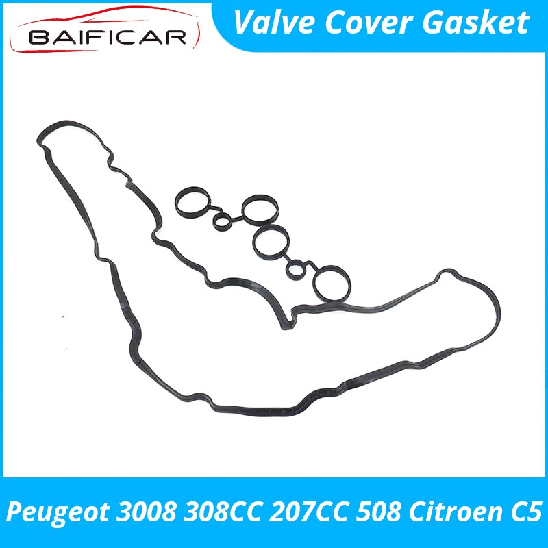 Baificar Brand New High Quality Valve Cover Gasket Seal for Peugeot 3008 308CC 207CC 508 Citroen C5 1.6T EP6 163