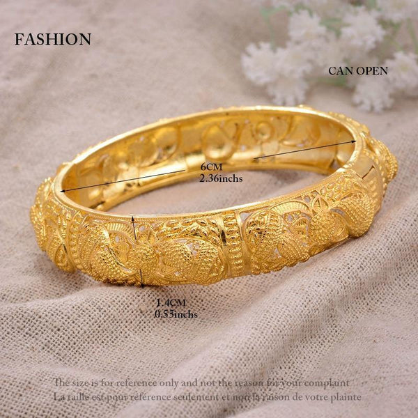 24K Bangles 4Pcs Gold Color Bangles freeshipping - looksCares