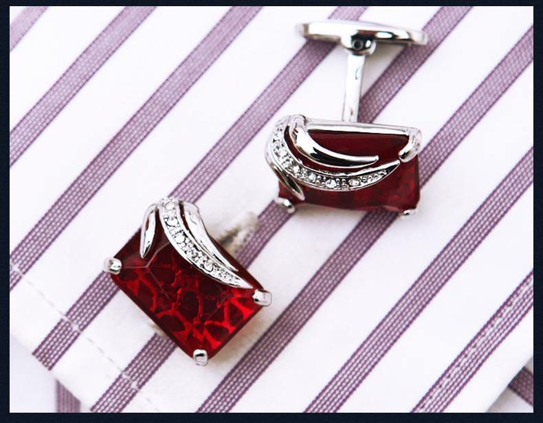 Buttons Red Pierced cufflinks freeshipping - looksCares