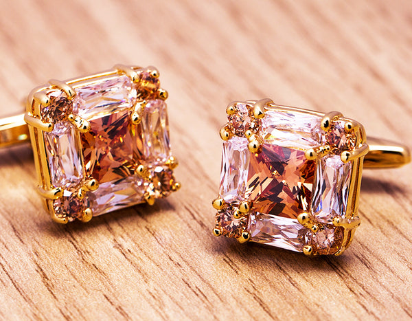 Square Gold Color cufflinks freeshipping - looksCares