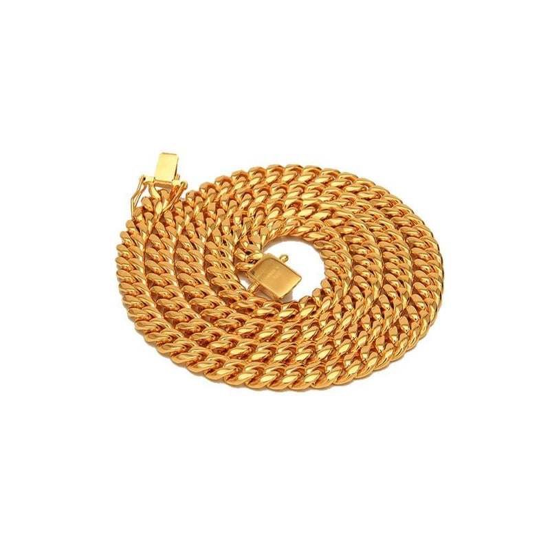24K Gold Plating+ PVD Plating Heavy Necklace freeshipping - looksCares