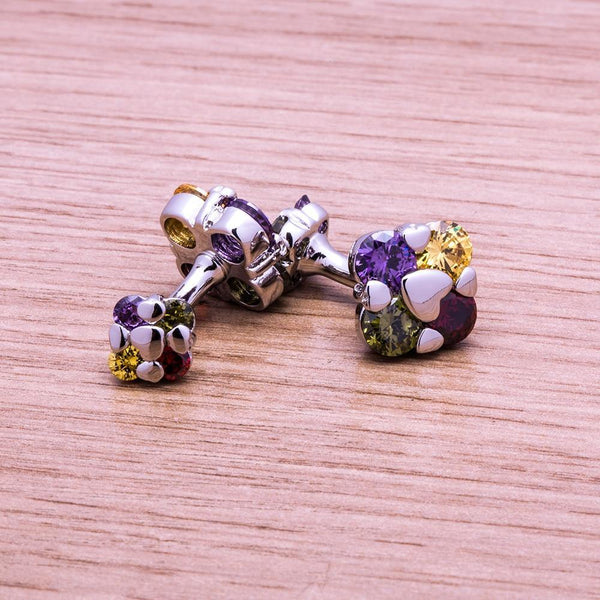 Multicolor Crystal Cufflink freeshipping - looksCares