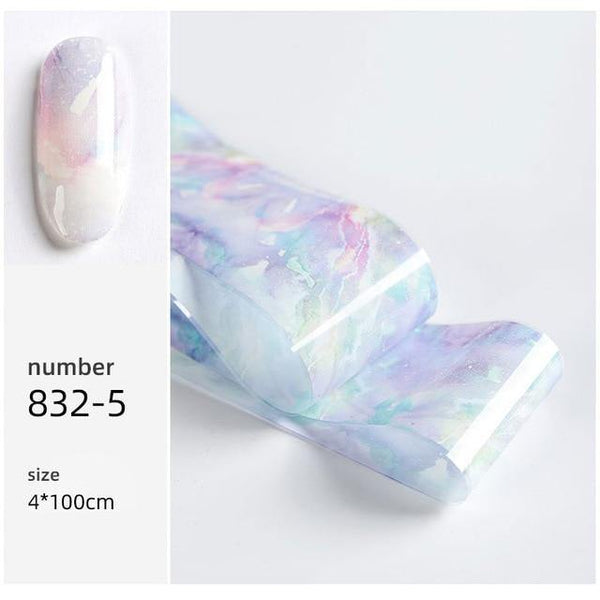 Rainbow sky style nail foil freeshipping - looksCares