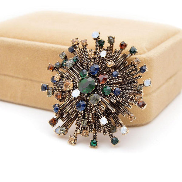 Rhinestone Vintage Flower Brooches freeshipping - looksCares
