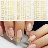Amazing 3D Gold Leaf Flower Nail Art freeshipping - looksCares