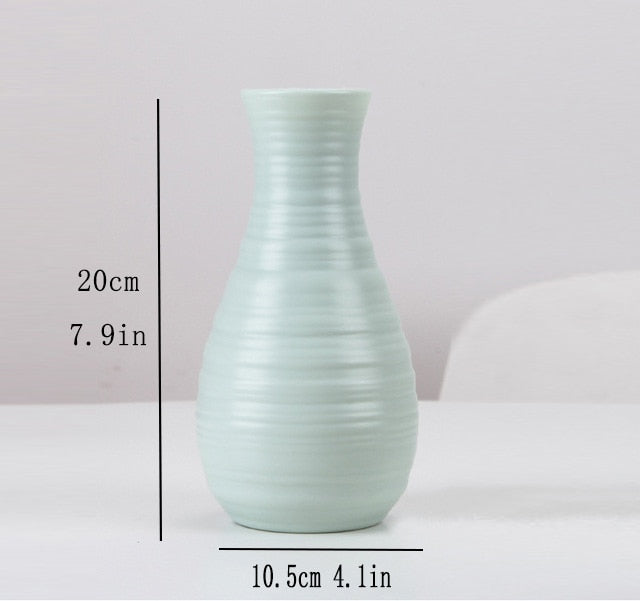 Plastic Flower Vase Decoration Home freeshipping - looksCares