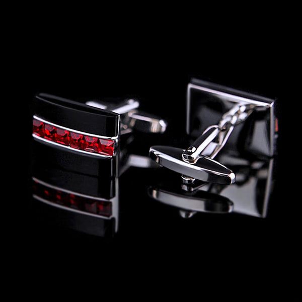 Red Crystal cufflink freeshipping - looksCares