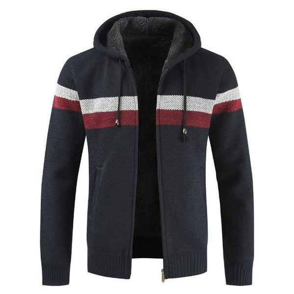 Men Faux Fur Hooded Zipper jacket freeshipping - looksCares