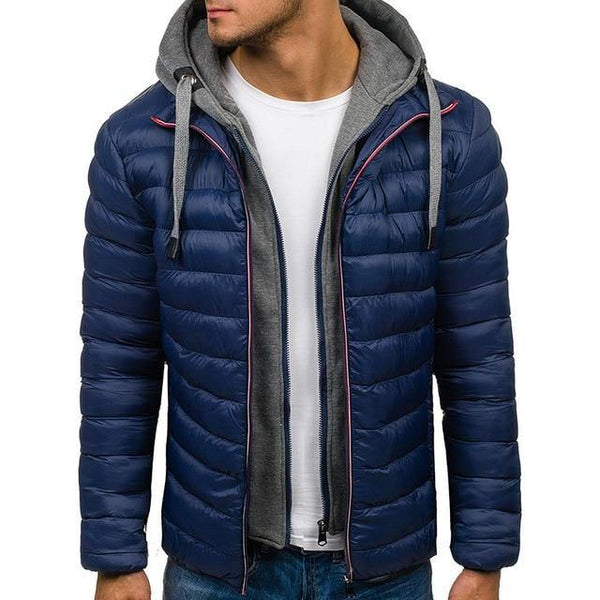 Men Hooded Thick Parka Jacket freeshipping - looksCares