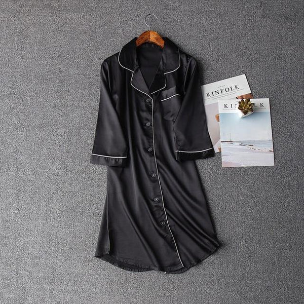 Half Sleeve Lapel Collar Nightwear freeshipping - looksCares
