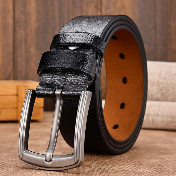 Men`s Classic Vintage Pin Buckle Leather Belt freeshipping - looksCares