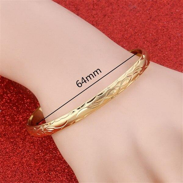 24K Gold Plated Bracelets Bangles freeshipping - looksCares