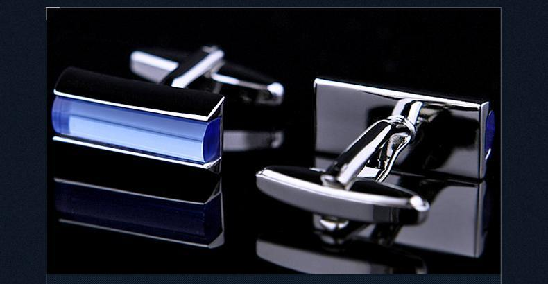 cufflink Blue freeshipping - looksCares