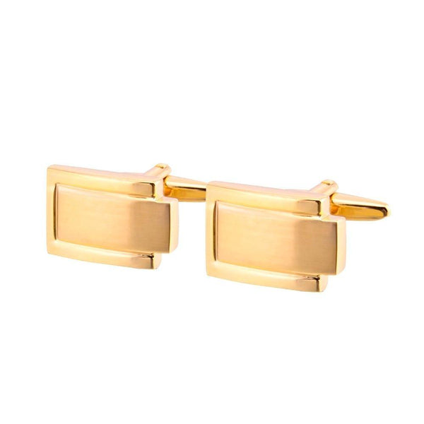 Elegant Gold Plated Cufflinks freeshipping - looksCares