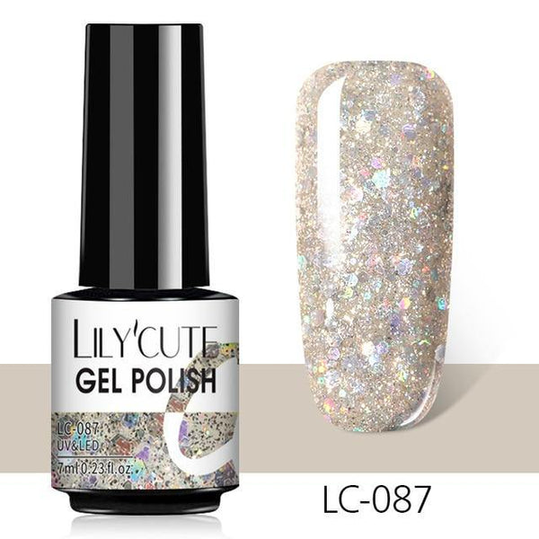 Glitter Sequins Nail Gel freeshipping - looksCares