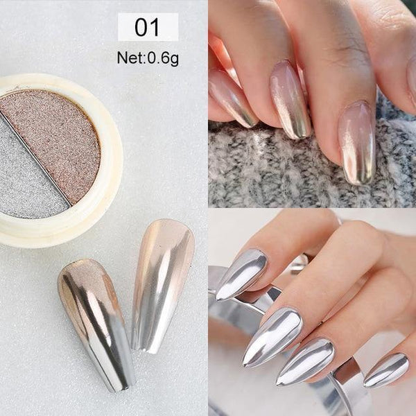 Rose Gold Mirror Nail Glitter Powder freeshipping - looksCares