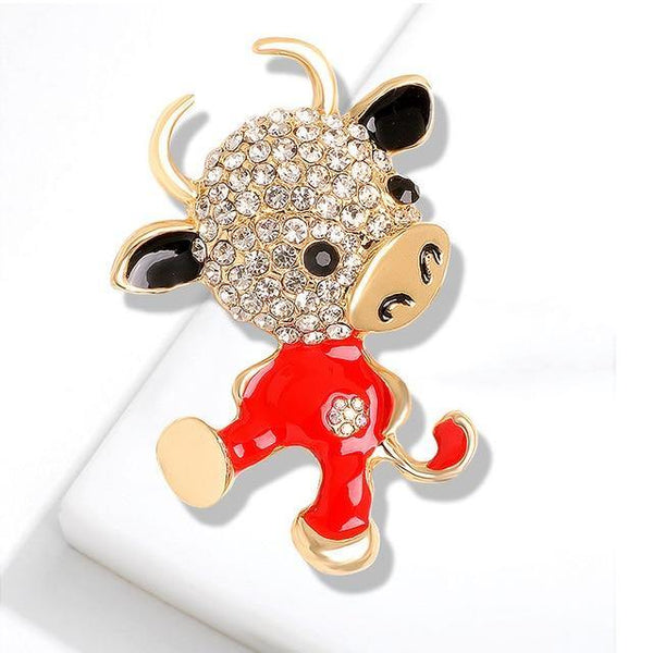 Rhinestone Calf Pin Brooch freeshipping - looksCares