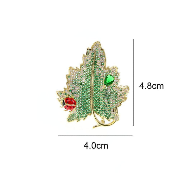 Green Leaf Pin Brooch freeshipping - looksCares