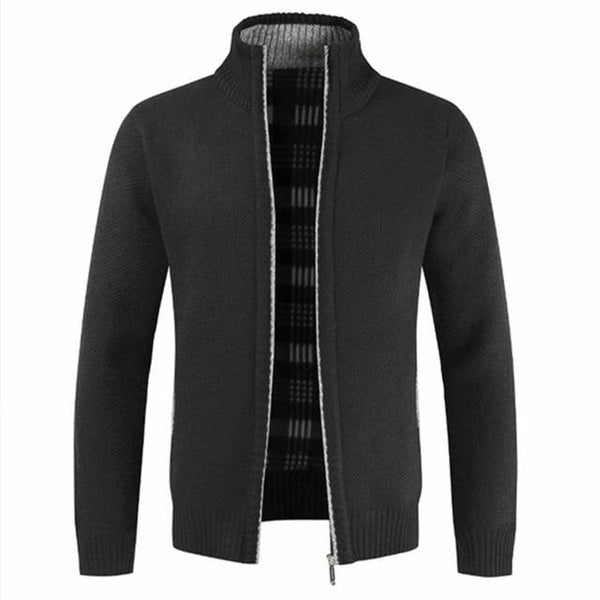 Men's Slim Fit Stand Collar Zipper Jacket freeshipping - looksCares