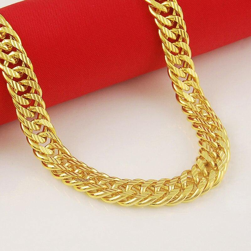 24k Gold GP 8mm Necklace freeshipping - looksCares