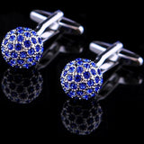 Brand Blue Crystal Ball Cuff Link freeshipping - looksCares
