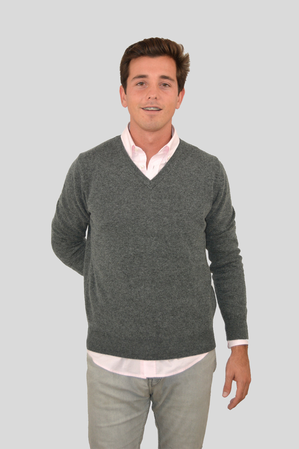 JERSEY 100% LAMBSWOOL GRIS