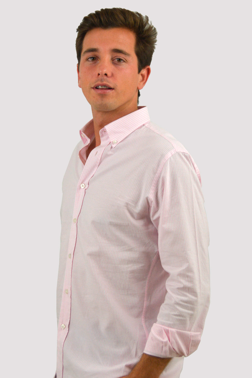 CAMISA OXFORD RAYA ROSA REGULAR FIT