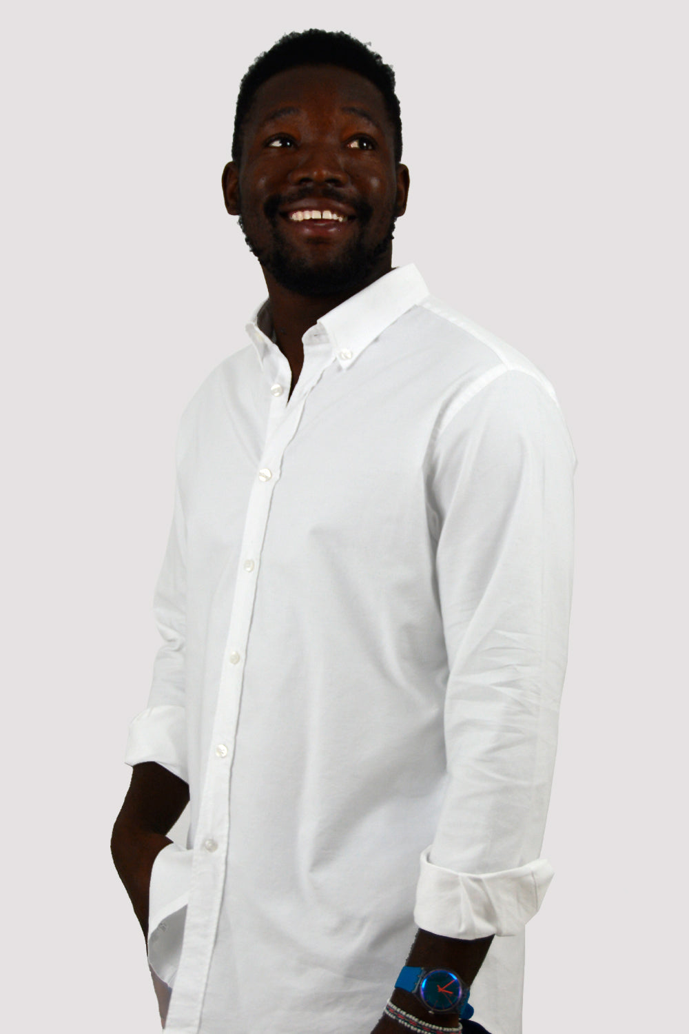 CAMISA OXFORD BLANCA REGULAR FIT