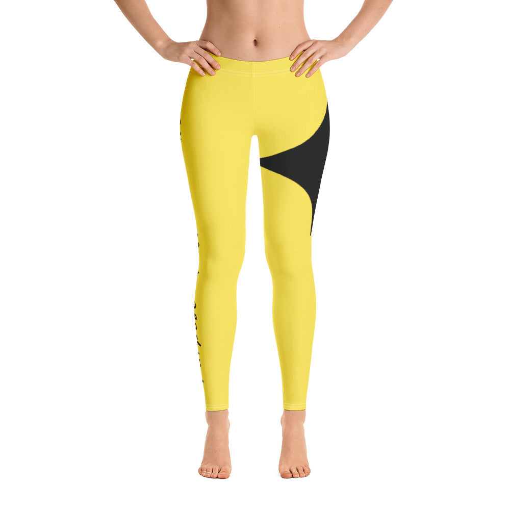 Leggings - Purpose Passion Power Yellow