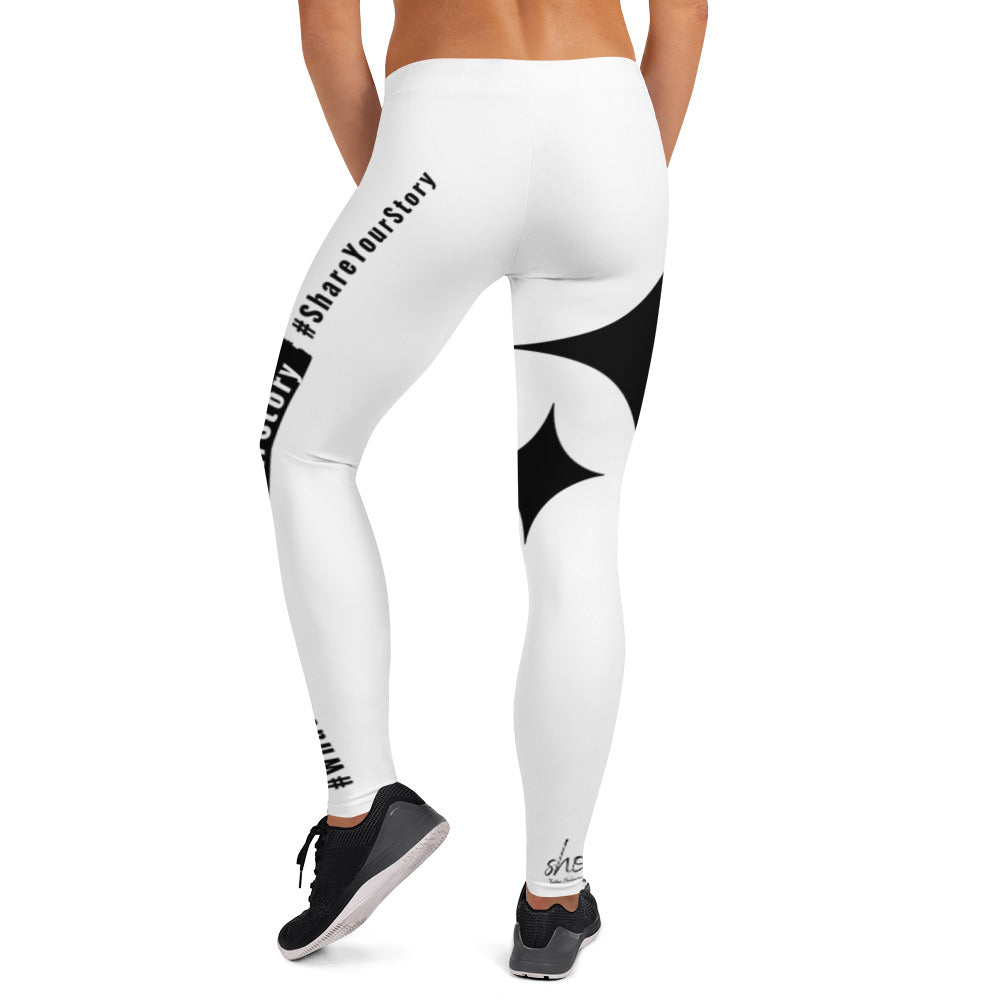 Leggings- #What'sYourStory #OwnYourStory #ShareYourStory White
