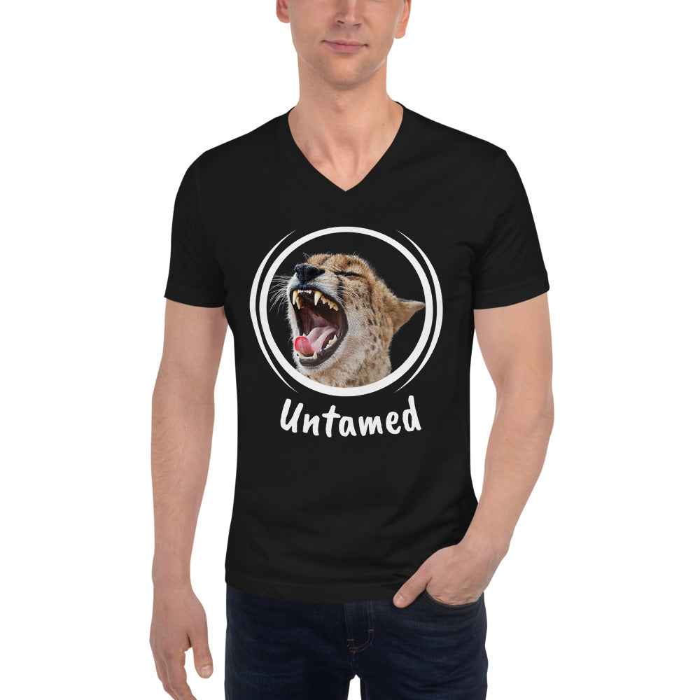 Unisex Short Sleeve V-Neck T-Shirt - Untamed
