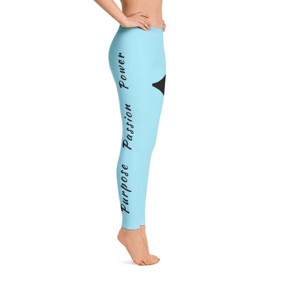 Leggings - Purpose Passion Power Baby Blue