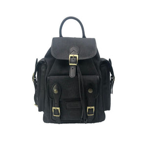 Juice - made in Italy, vera pelle, tela e top in pelle, zaino uomo, nero / marrone, 112248 - Juice - made in Italy,Genuine leather,Canvas and Top leather, Men Backpack,Black/Brown,112248