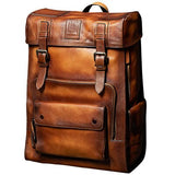 Retro Backpack Luxury Mens Cow Leather backpack Bag  Large Capacity  Travel Bags Collegebags