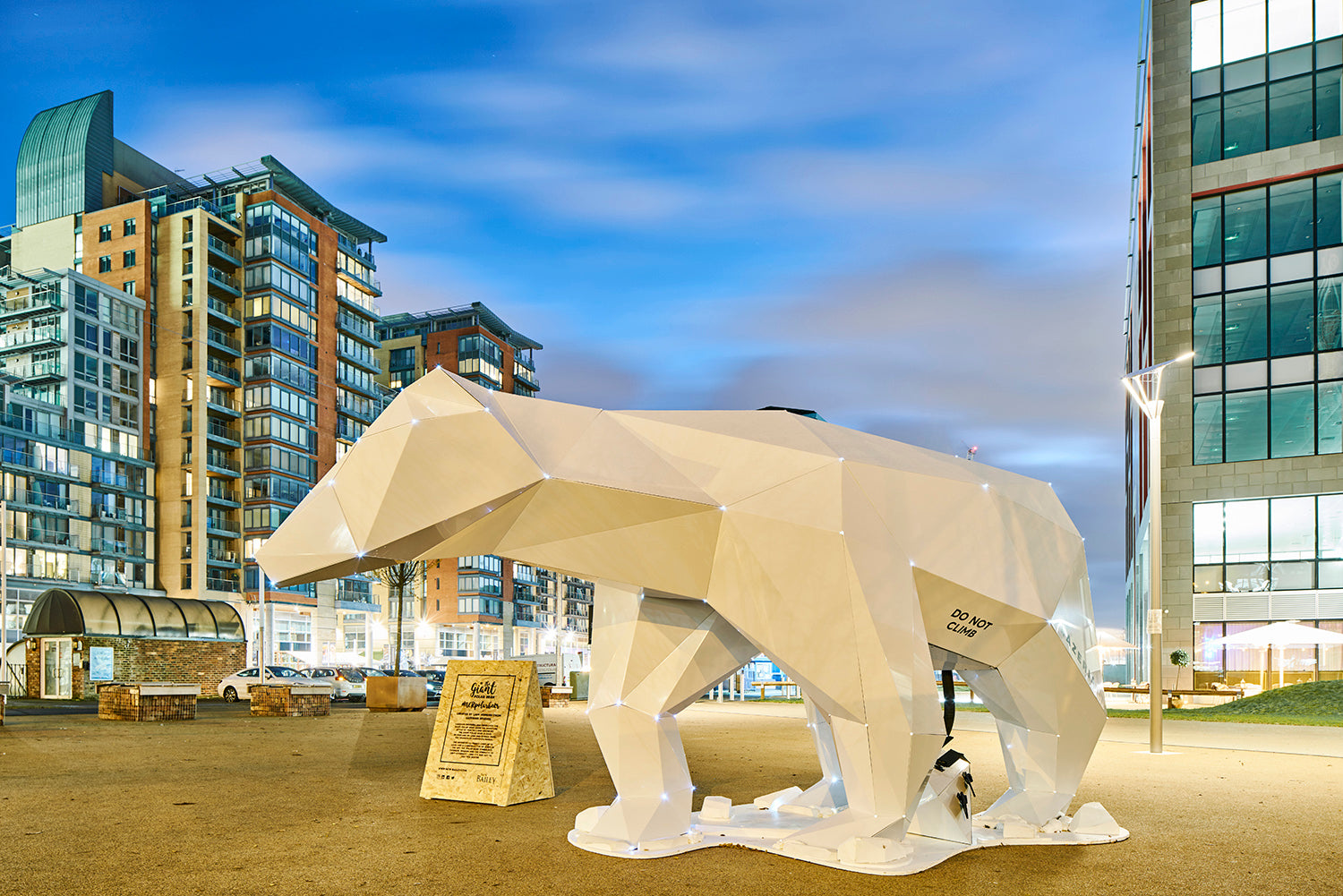 aluminium polar bear liam hopkins