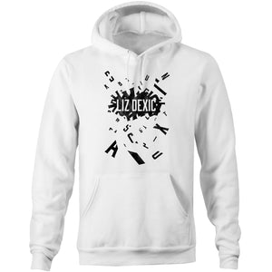 Open image in slideshow, Hoodie - Logo Jumble - Black Print