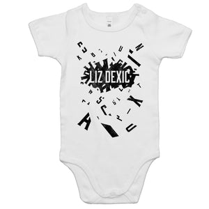 Open image in slideshow, Baby Onesie - Logo Jumble - Black Print
