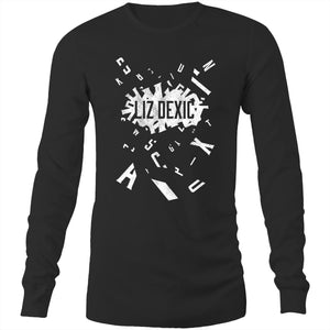 Open image in slideshow, Long Sleeve - Logo Jumble - White Print